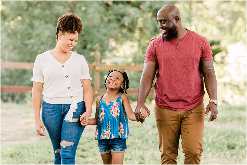 family engagement session, happy daughter