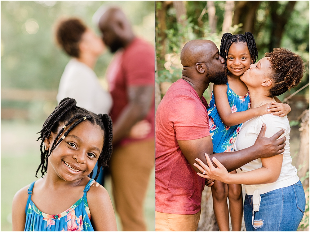 family engagement session with daughter