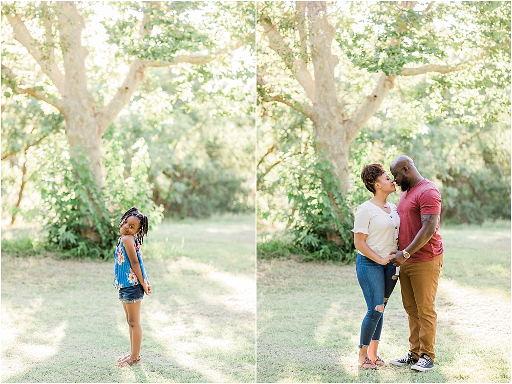 happy couple in love, happy daughter, family engagement session