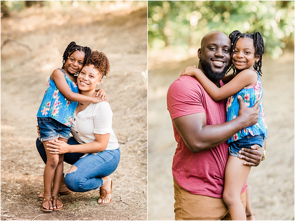 happy family engagement session in the park