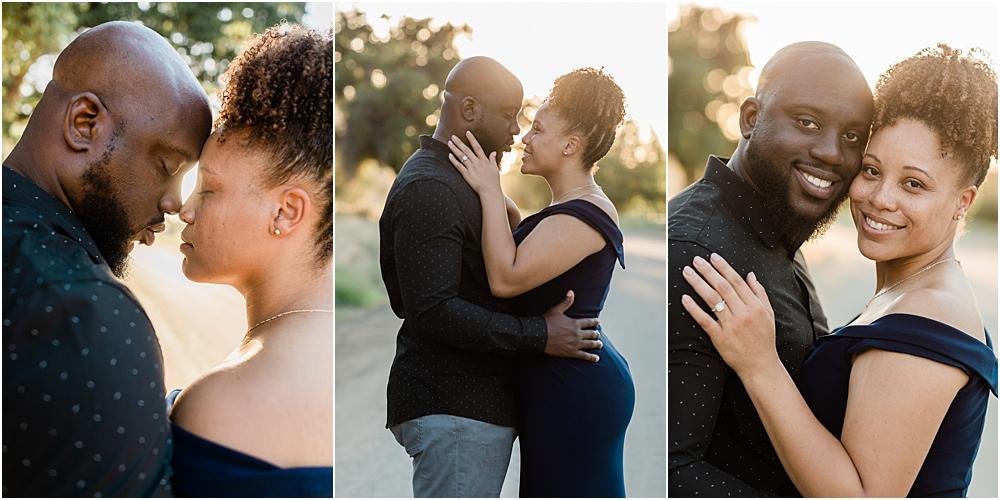 romantic engagement session portraits